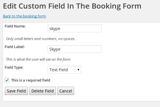 Edit Custom Field